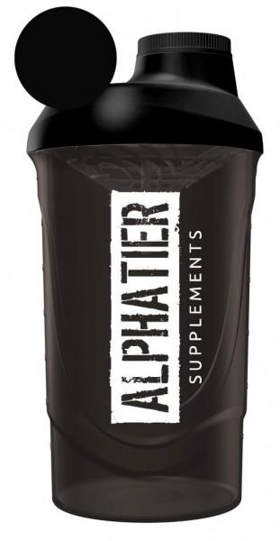 Alphatier Fitness Shaker 600 ml (black-smoked)