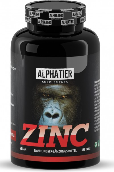 Hochdosierte Zink Tabletten - Alphatier Supplements