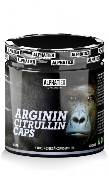 Alphatier L-Arginin Citrullin 360 Kapseln