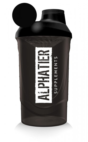 Alphatier Fitness Shaker 600 ml (black-smoked)