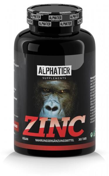Hochdosierte Zink Tabletten - Alphatier Supplements